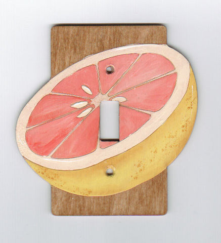 Grapefruit Single Switchplate Cover