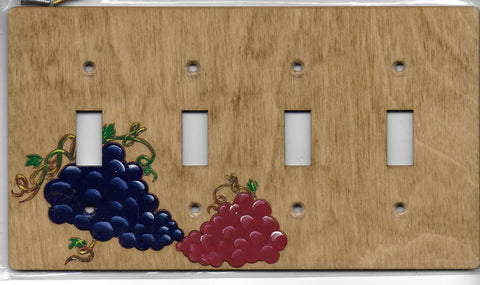 Grapes Four switch switchplate cover