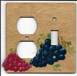 Grapes switch and plug left combination switchplate cover