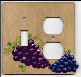Grapes switch and plug Right combination switchplate cover