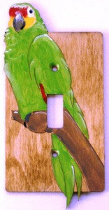 Parrot single switch plate cover