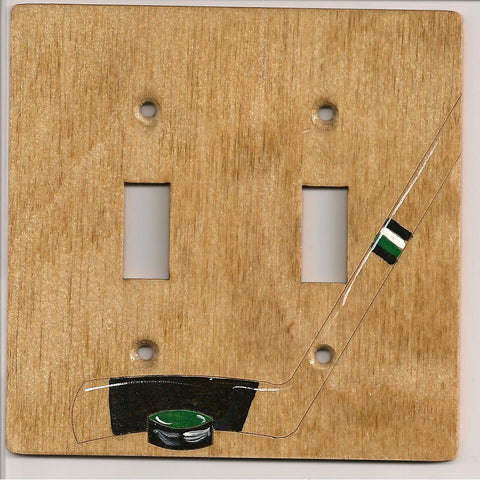 Hockey switchplate cover double
