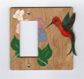 Hummingbird rocker left switchplate cover