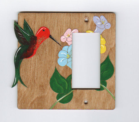 Hummingbrid rocker right switchplate cover