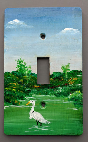 Egret Single switch plate cover