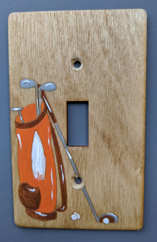 golf single switchplate cover