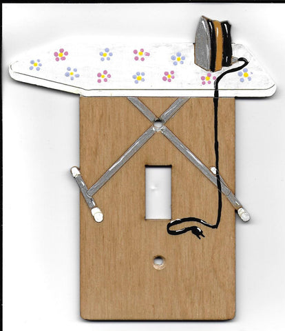Ironing board single switch plate