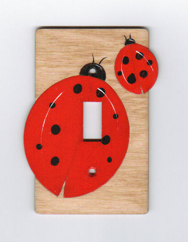Ladybug single switch plate cover