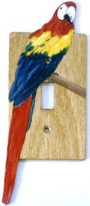 Macaw single switch plate cover