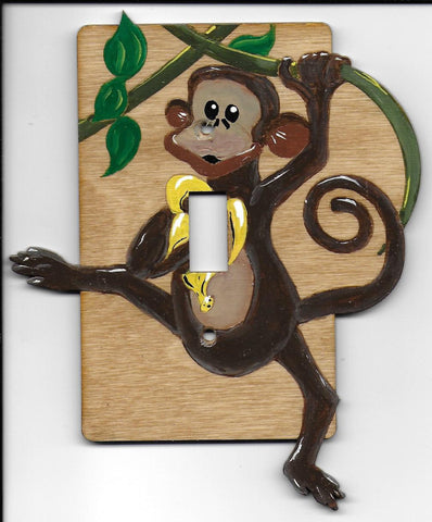 Monkey Single switch plate cover