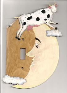 Cow over the moon single right switch plate