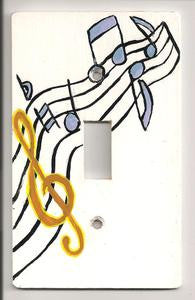 Music notes Single switch plate cover