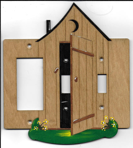 Outhouse 2 switch, rocker/gfci on the left switch plate cover