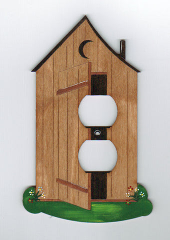 Outhouse single outlet switch plate (small)