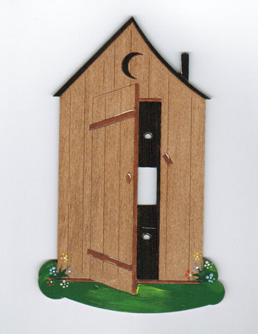 Outhouse single switch plate cover