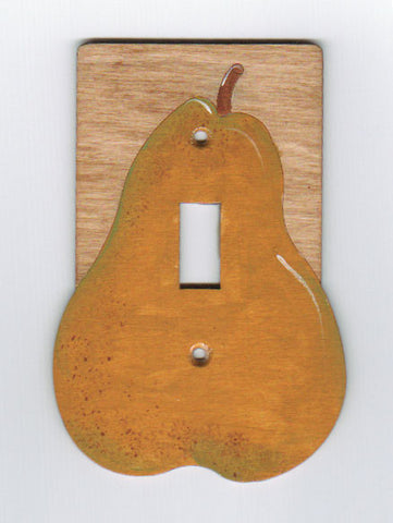 Pear single switch plate cover