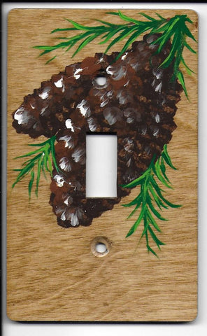 Pine Cones single switch plate