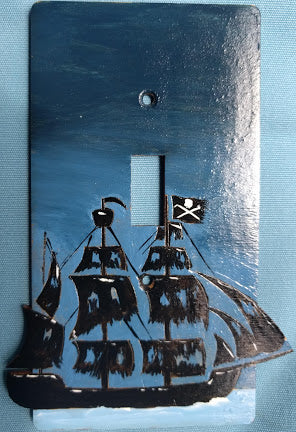 Pirate Ship single switch plate cover