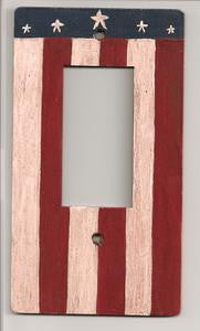 Primitive Flag Rocker switch plate cover