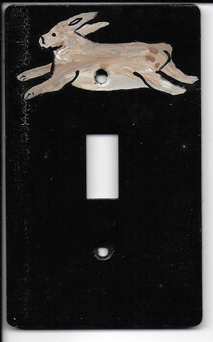 Primitive Bunny single switch plate