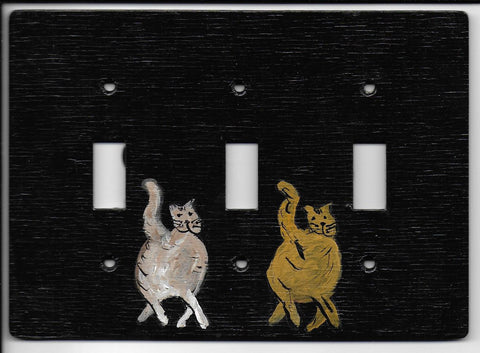 Primitive Cat triple switch plate
