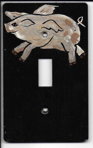 Primitive Pig Single Switch plate