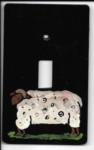Primitive Sheep single switch plate