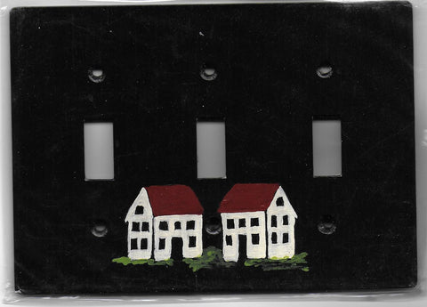 Primitive House triple switch plate