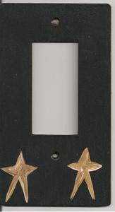 Primitive Star single rocker switch plate cover