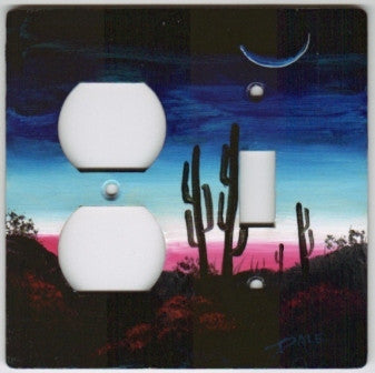 Desert Sunrise scene switch and outlet switch plate