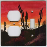 Desert Sunset scene switch and outlet switch plate cover