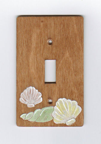Seashell single switch plate cover