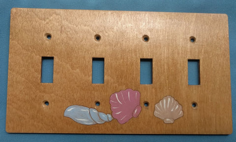 Seashell Four Switch plate cover
