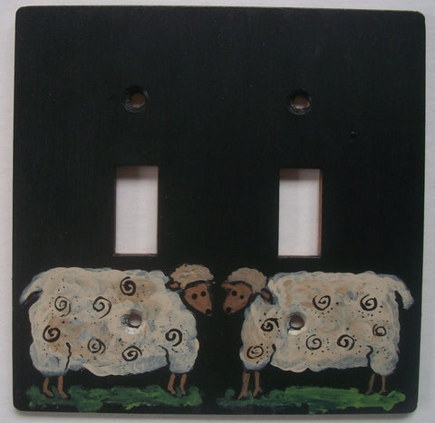 Primitive Sheep Double Switch plate