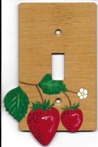 Strawberry single switch plate cover