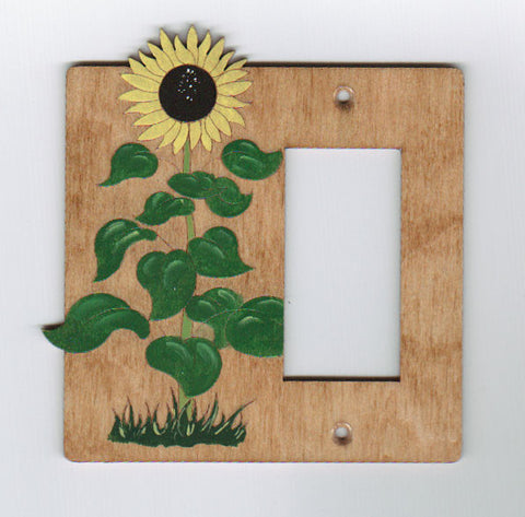 Sunflower rocker right switch plate cover