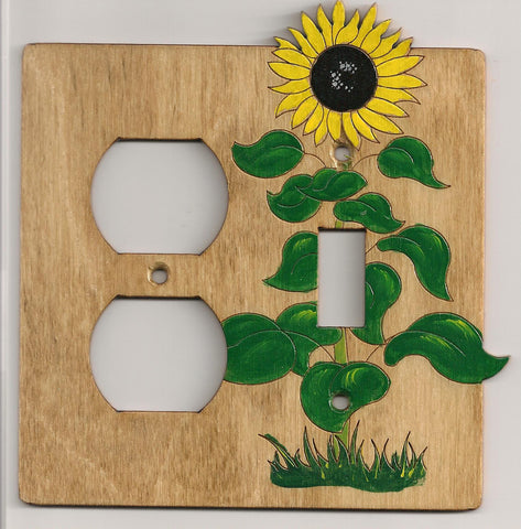 Sunflower switch and plug left combination switch plate cover