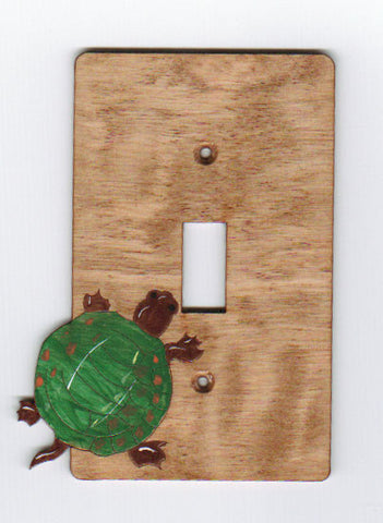 Turtle single switch plate cover