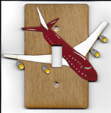 AirPlane single switch plate cover