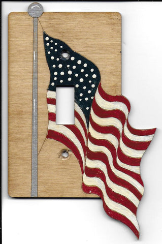 American Flag single switchplate cover