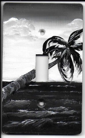 Sepia Black & White Palm Scene Single Switch