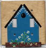 Bird House Double Switch plate cover