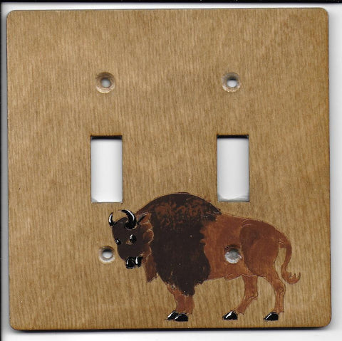 Buffalo double switch plate