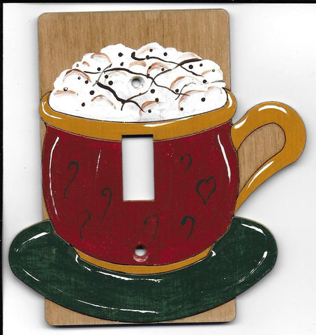 Cappuccino single switch plate cover