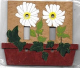 Daisy double switch plate cover