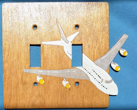 AirPlane double switch plate cover