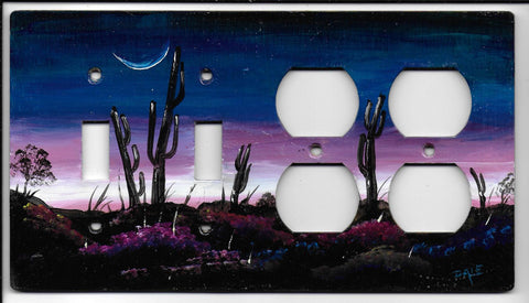 Desert Sunrise scene double Switch double Plug right