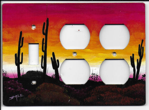 Desert sunset  Switch double Plugs right