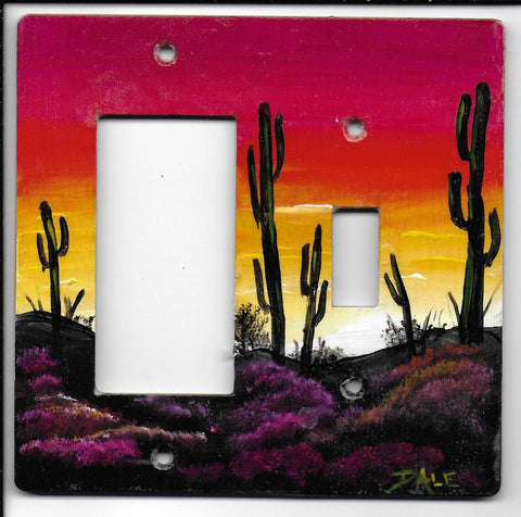 Desert sunset Switch Rocker-Gfi left