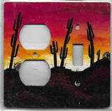Desert Sunset scene switch and outlet left switch plate cover